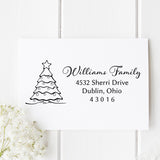 Christmas Tree Return Address Stamp - Stamp Nouveau