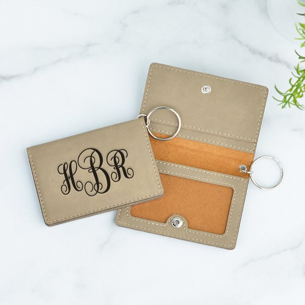 Fancy Monogram Personalized Keychain ID Wallet