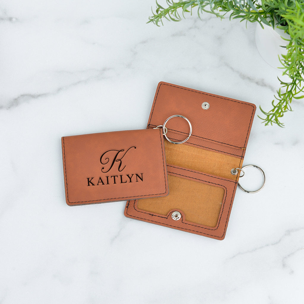 Monogram Personalized Keychain ID Wallet - Stamp Nouveau