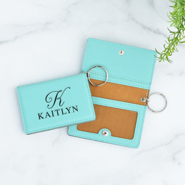 Monogram Personalized Keychain ID Wallet