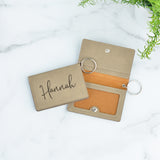 Personalized Keychain ID Wallet - Stamp Nouveau