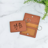 Curly Monogram Personalized Keychain ID Wallet - Stamp Nouveau