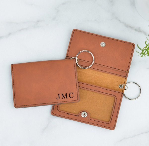Classic Monogram Personalized Keychain ID Wallet