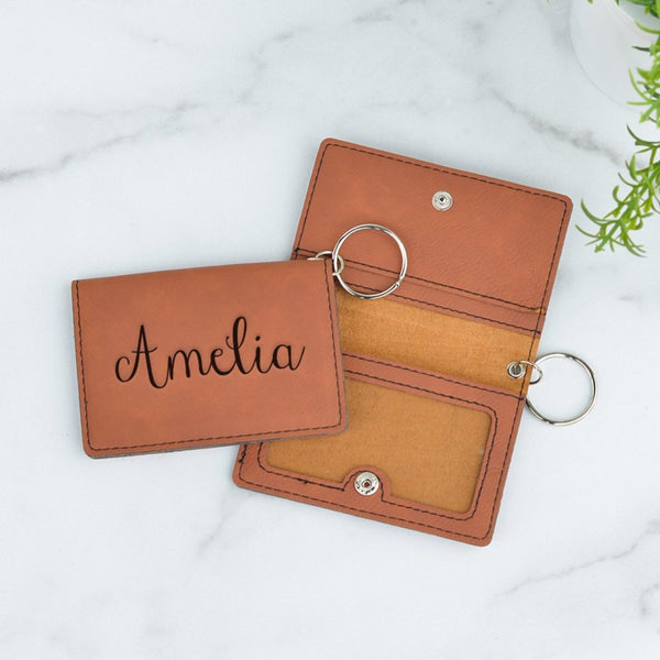 Signature Personalized Keychain ID Wallet