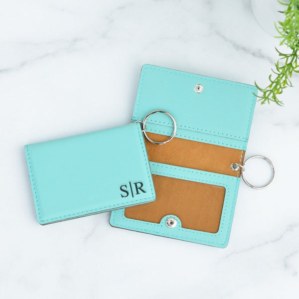 Simple Monogram Personalized Keychain ID Wallet