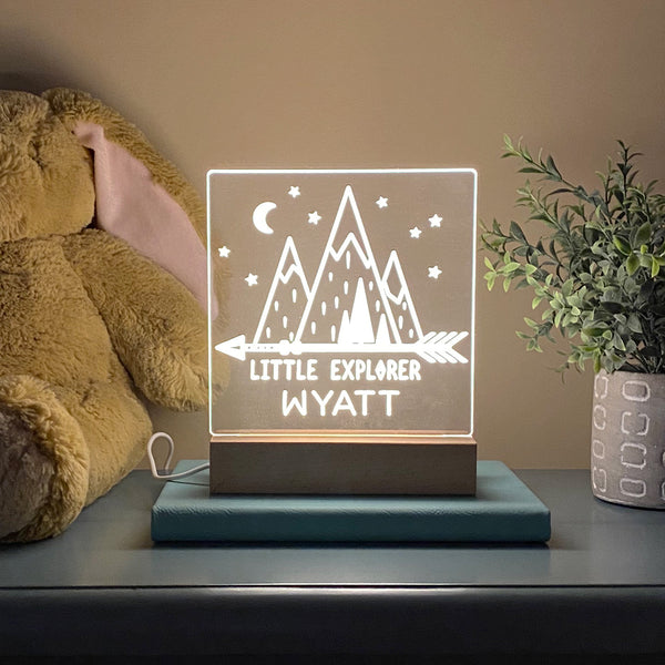 Little Explorer Personalized Night Light Kids Room