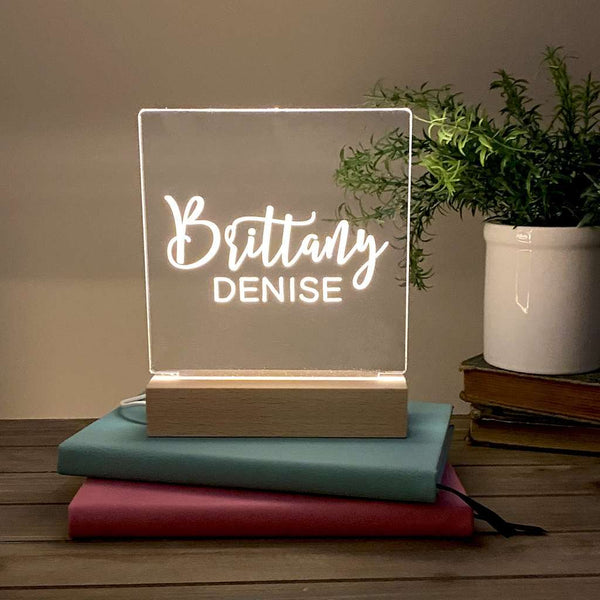Personalized Night Light For Kids Simple Name