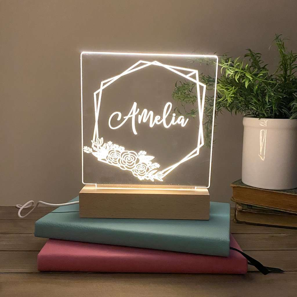 Geo Metric Personalized Night Light - Stamp Nouveau