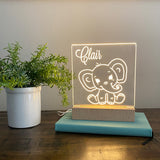 Elephant Personalized Night Light Kids Room