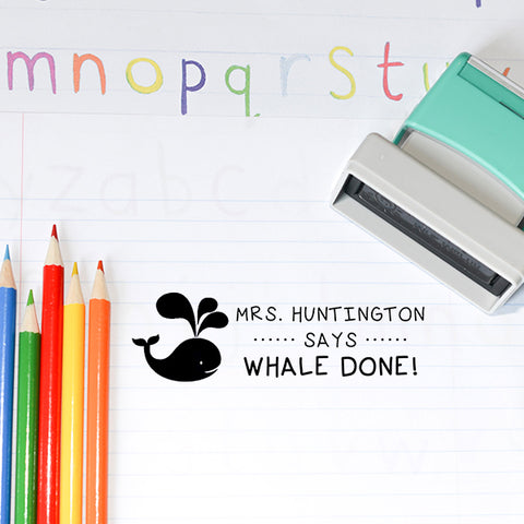 Whale Teacher Stamp  T10