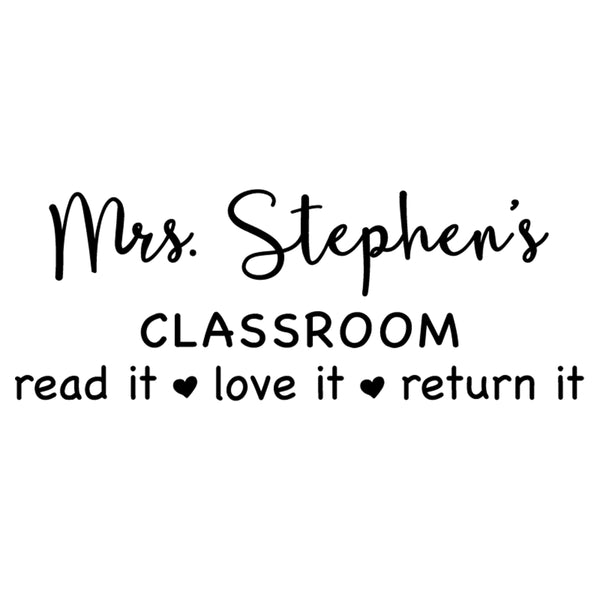 Classroom Teacher Stamp  T14