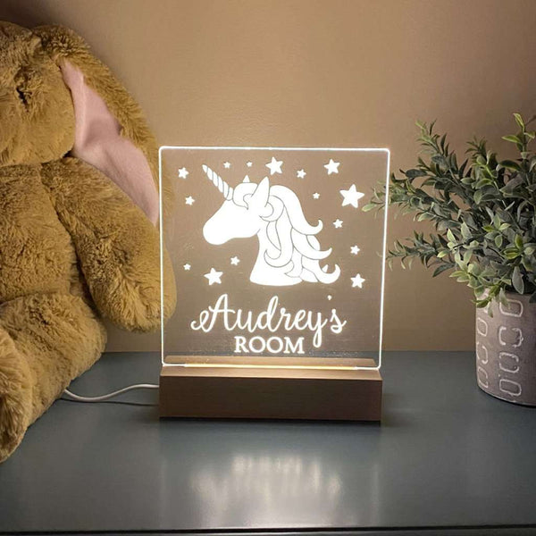 Unicorn Personalized Night Light For Kids Room