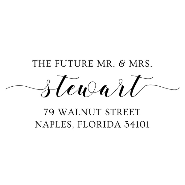 Future Mr. & Mrs. Return Address Stamp D373