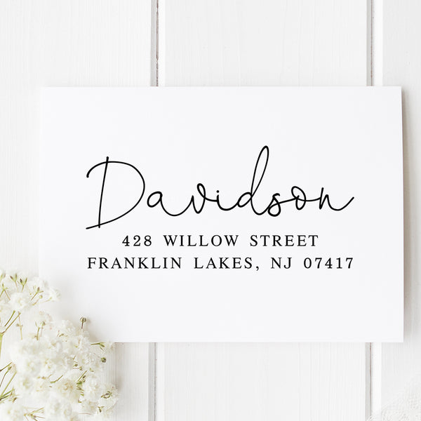 Davidson Self Inking Return Address Stamp D365