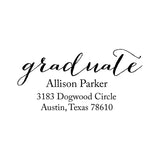 Fancy Graduation Address Stamp G9 - Stamp Nouveau