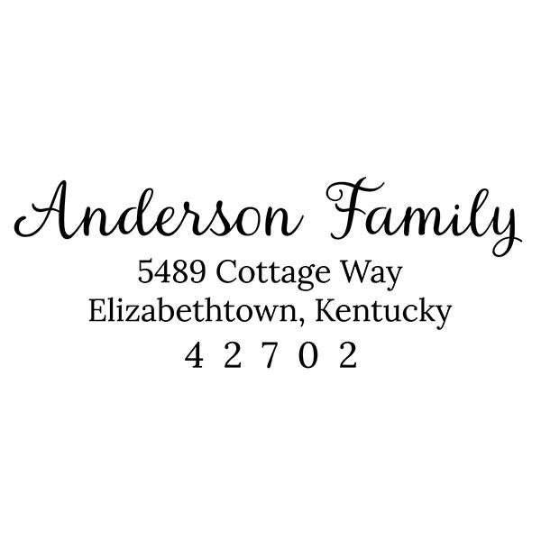 Anderson Custom Return Address Stamp - Stamp Nouveau