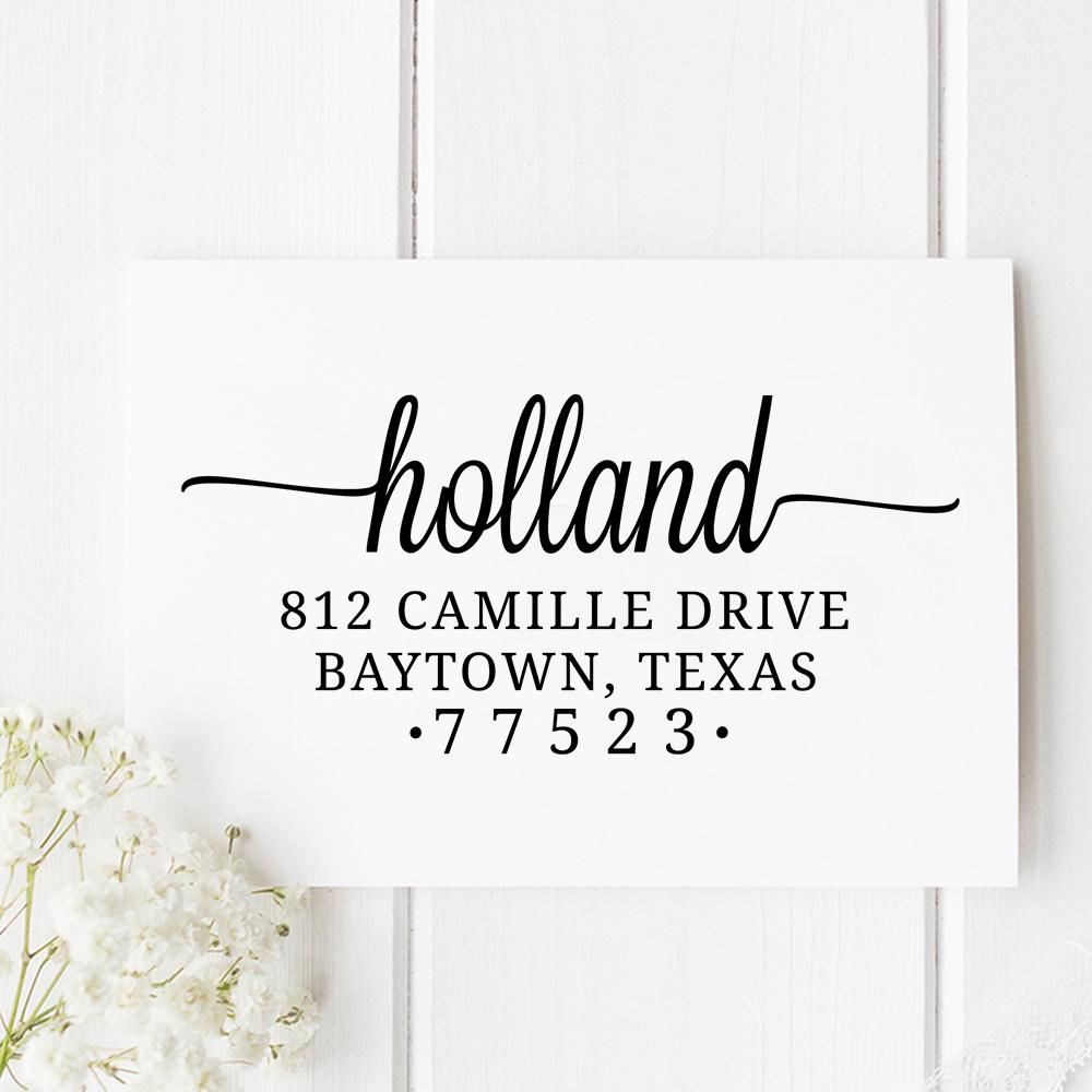 Baytown Self Inking Return Address Stamp - Stamp Nouveau
