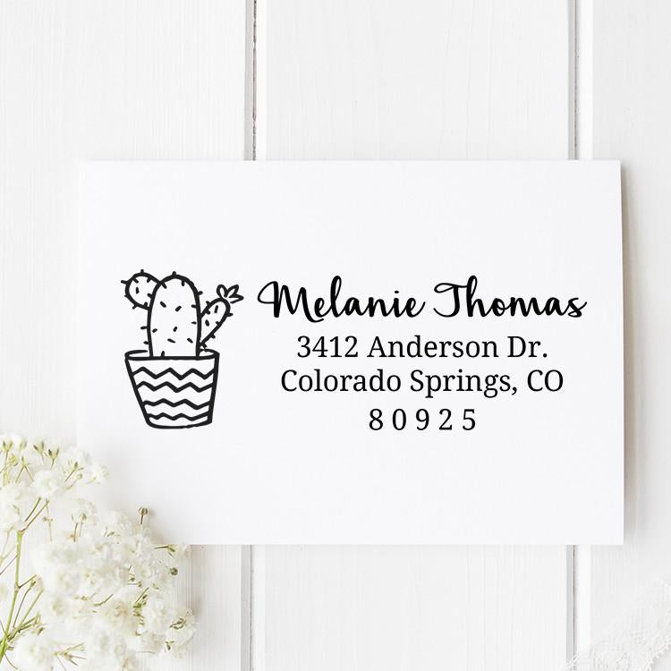 Cactus Self Inking Return Address Stamp - Stamp Nouveau