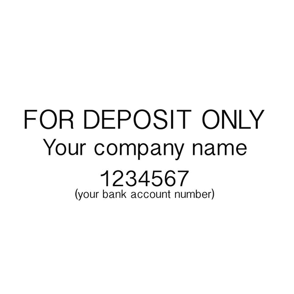 Deposit Only Self Inking Stamp