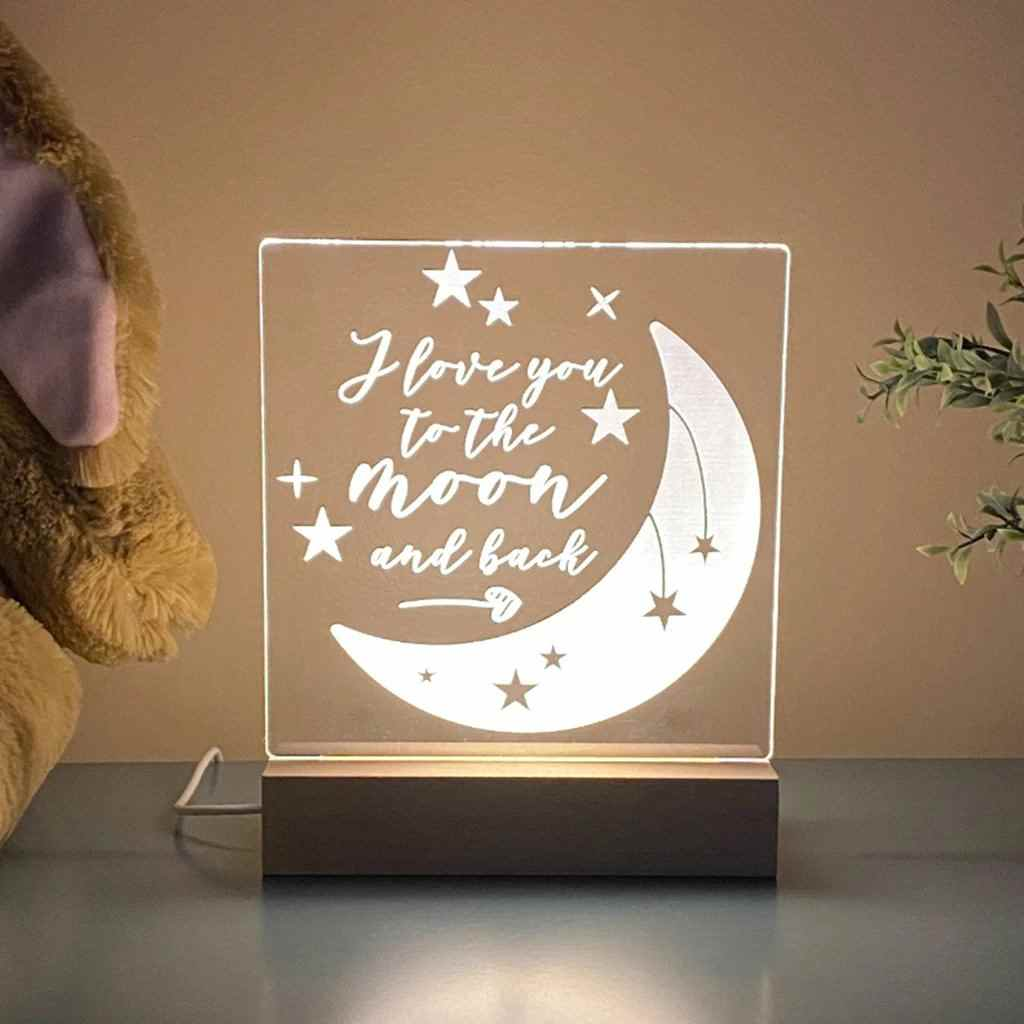 Love You To The Moon Night Light - Stamp Nouveau