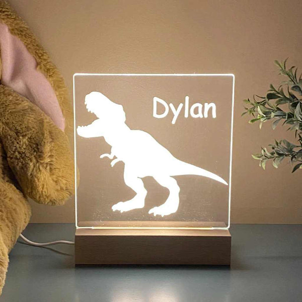 Dinosaur Personalized Night Light For Kids Room
