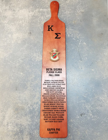 Campus King Paddle for Greek Pledge Class