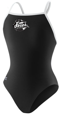 Speedo Endurance+ Solid Flyback with Team Logo (Black)