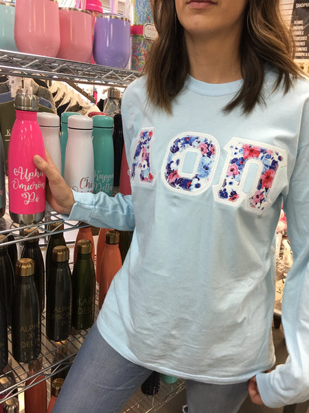 Comfort Colors Long Sleeve Letters