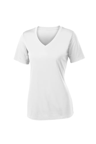 Ladies Dri Fit V-Neck Deck Tee