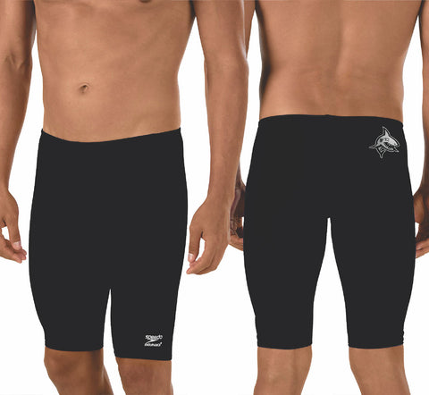 Speedo Solid Endurance+ Jammer with Team Logo (Black)