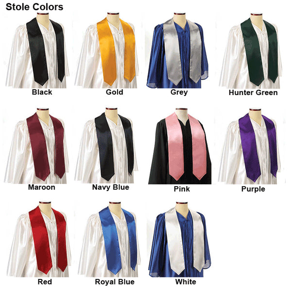 Single Color Grad Stole