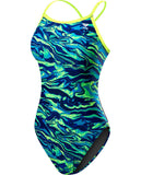 TYR Miramar Diamondfit (Blue/Green)