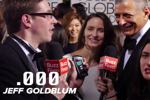 BuzzFeed Breathalyzes Celebrities on the Red Carpet With BACtrack