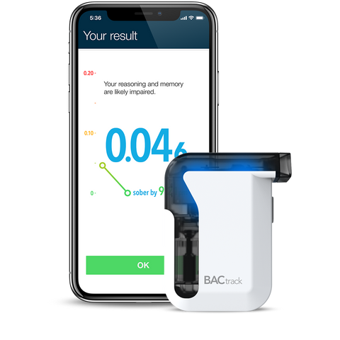 BACtrack Mobile Smartphone Breathalyzer & Black iPhone