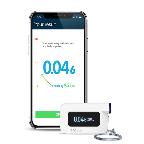 BACtrack C6 Keychain Breathalyzer w/ iPhone X