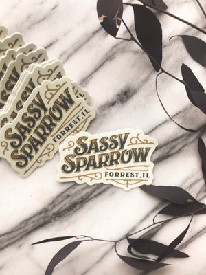 Sassy Sparrow Laptop Sticker