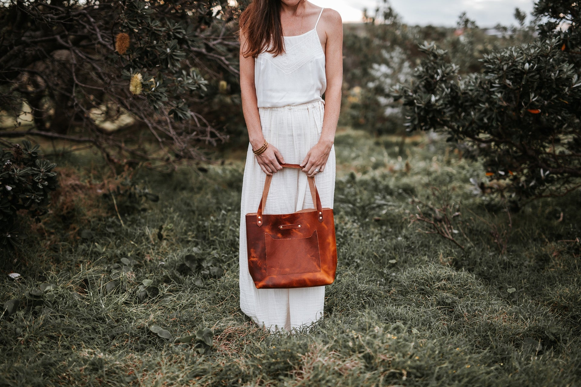 The Adelaide: Designer Leather Handbag - Sassy Sparrow
