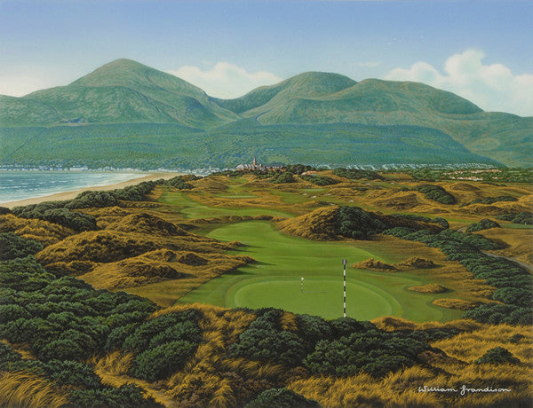 Royal country down golf course art golf art ireland by for Royal county down