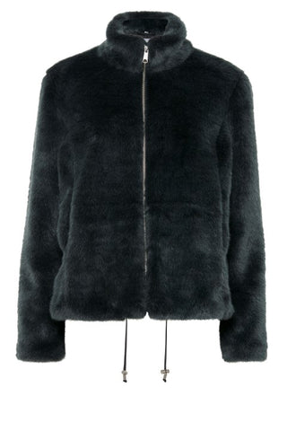 Image showing B Young Faux Fur Jacket Teal