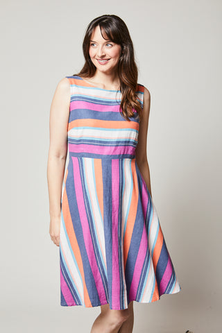 Image showing Lily&Me stripe linen dress