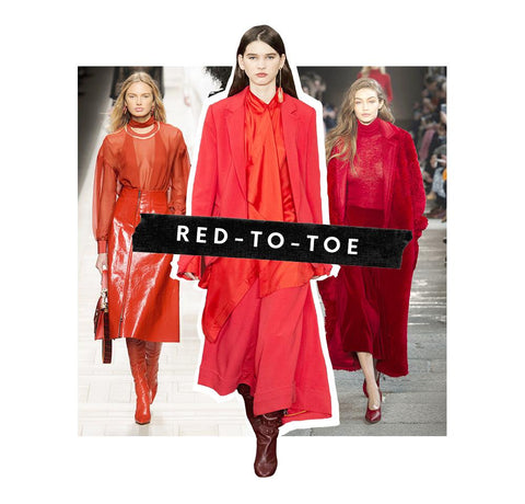 Image of red to toe outfits