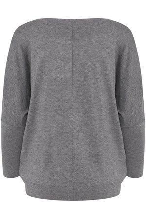 B Young Pimba Bat Wing Jumper  Grey