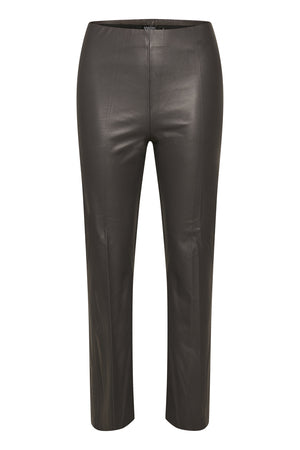 Image showing Soaked In Luxury Kaylee PU Kickflare Trousers 30404598