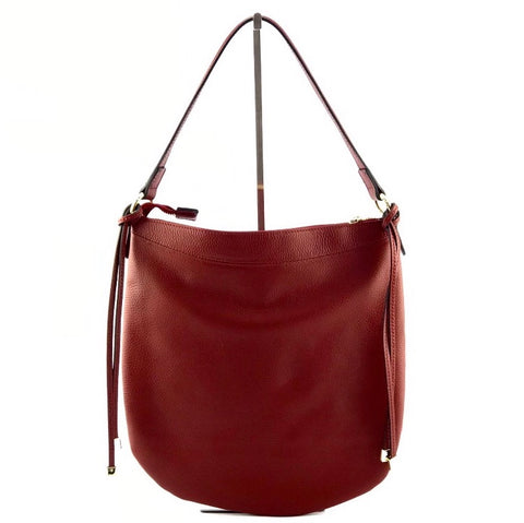 Image showing Marlon Leather Lexy Scoop Shoulder Bag red