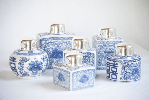 Blue and White Tea Jars