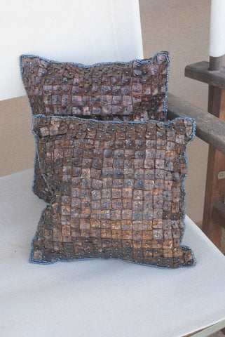 Chic Brown Shell Throw Pillows