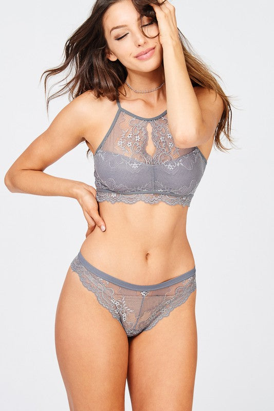 Midnight Lace Racerback Bralette