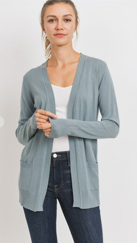 Pale Olive Soft Cardigan