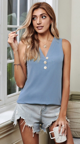 Blue 3 Button Tank