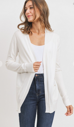 White Soft Cardigan